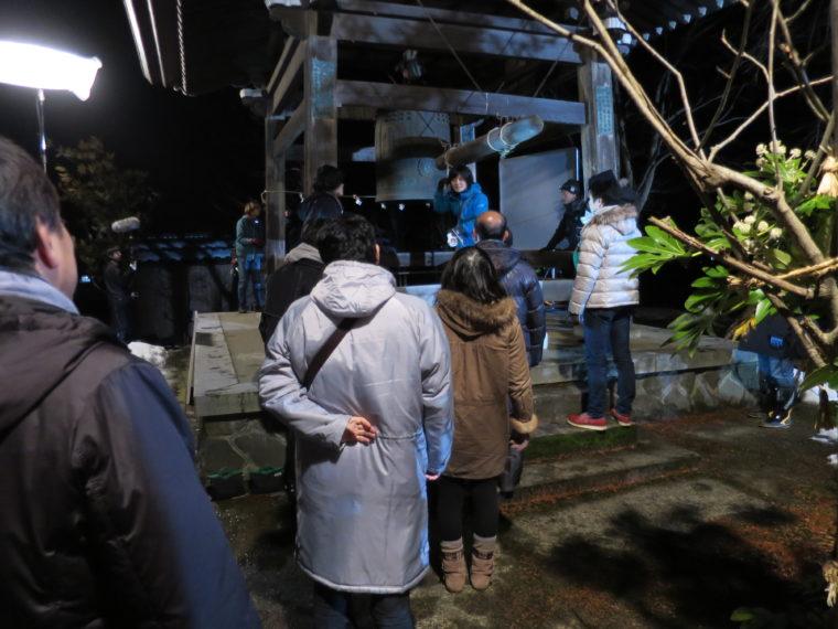 栃尾の阿弥陀院での撮影風景