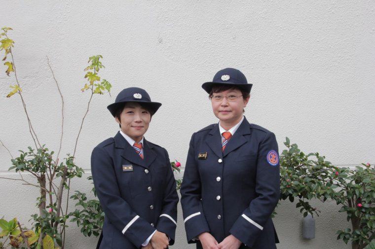 写真左が新潟市消防団の林さん、写真右が新潟市消防団の井部さん