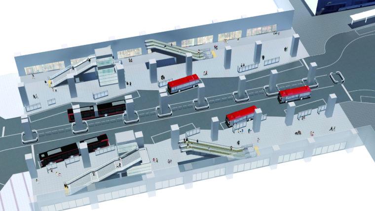 同バスターミナル全体のイメージ