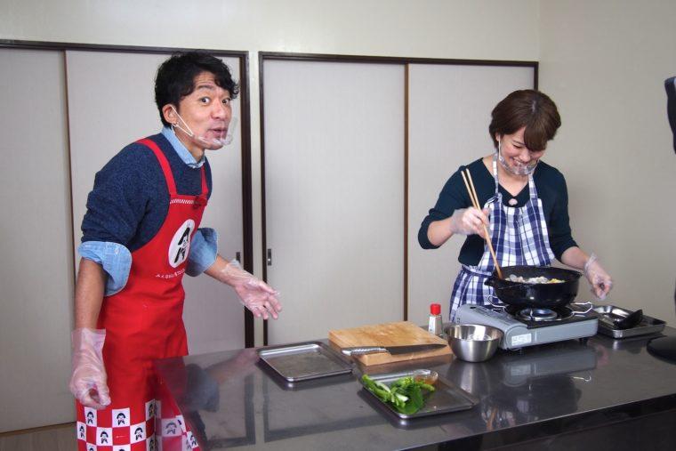 調理が簡単で、今回ほとんど出番がなかった飛田アナでした