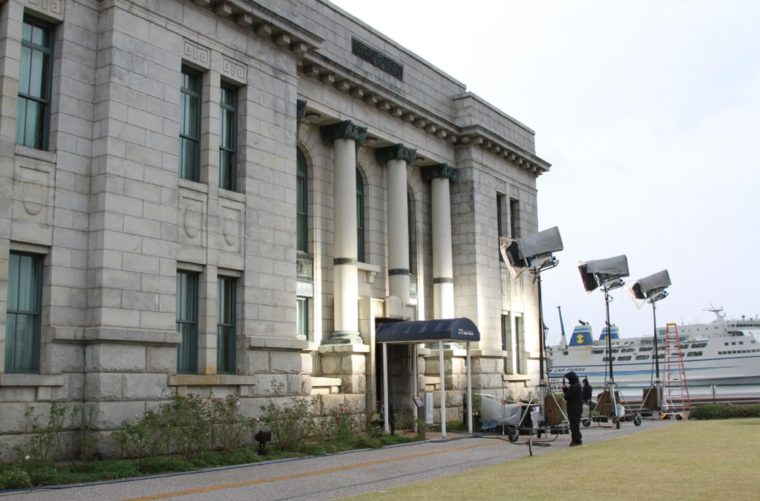 新潟市歴史博物館みなとぴあの敷地内にある旧第四銀行住吉支店