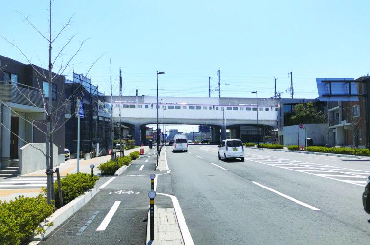 新潟鳥屋野線(中央区水島町付近)