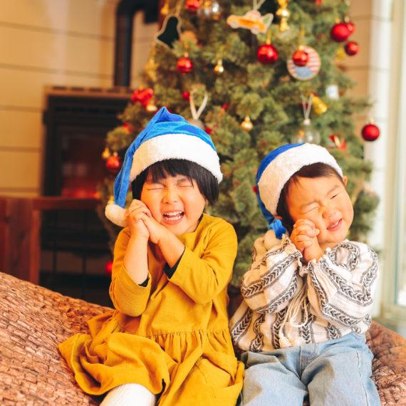 サンタさんの帽子が青い!