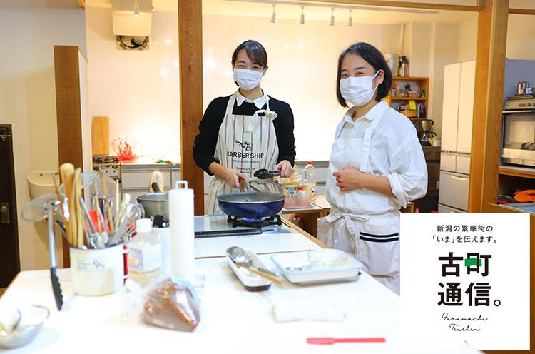 西澤真耶さん(左。右はクッキングライフ nukunukuオーナー渡辺さん)/1997年東京都生まれ。4歳よりクラシックバレエを始める。2015年10月よりNoism2、2018年9月よりNoism1所属
