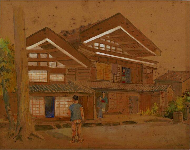 チャールズ・ワーグマン『新潟の家』1870年