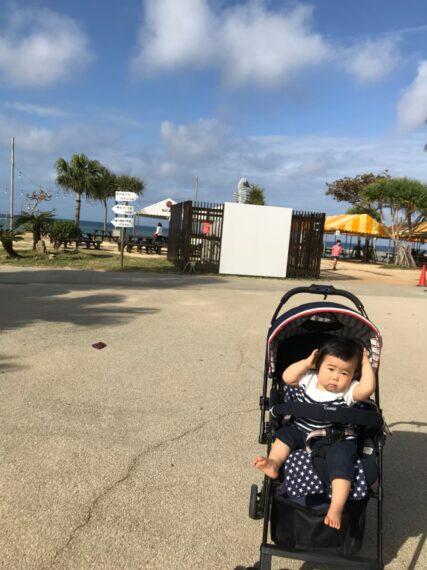 「沖縄と言えば、やっぱり海! 『太陽が気持ちいいなぁ』」