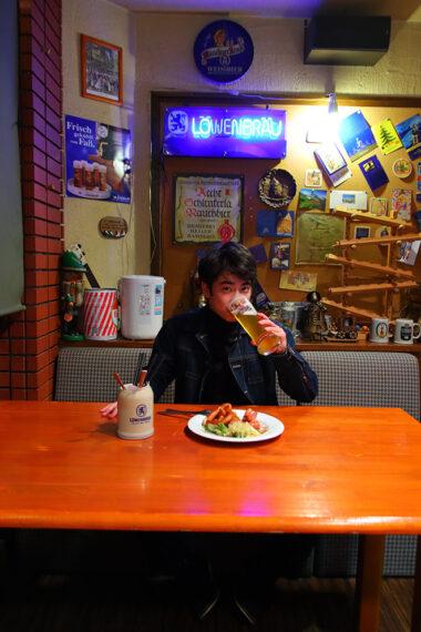 中尾さん、ビールもおいしそうに飲むんです!
