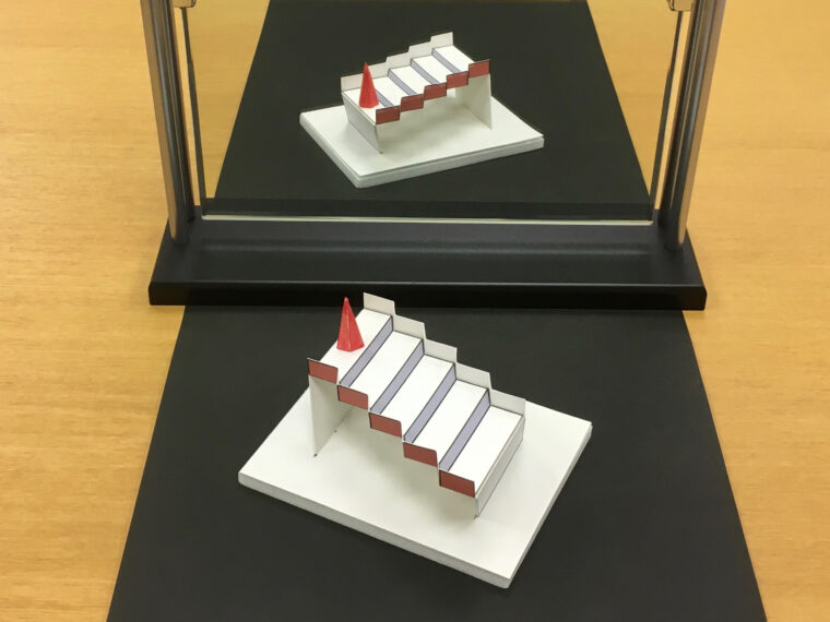 高さ反転立体「3次元シュレーダー階段」