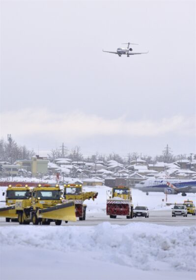 ↑最優秀賞『冬の新潟空港』