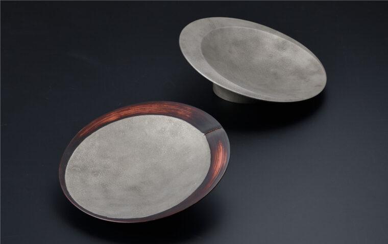 朧銀塗(おぼろぎんぬり)×竹塗の『crater』