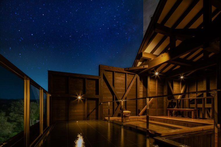人気の展望露天風呂「宙の箱舟」はリニューアルしたばかり!