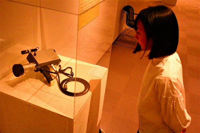 久保田さんが使用していたものと同じ型のヴィデオカメラ