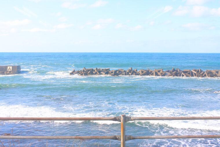 海、近っ!