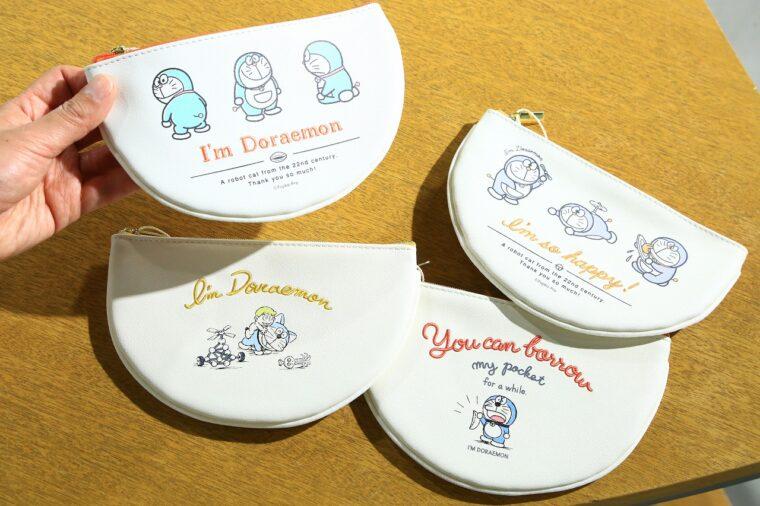 半円ポーチ各1,870 円(税込)