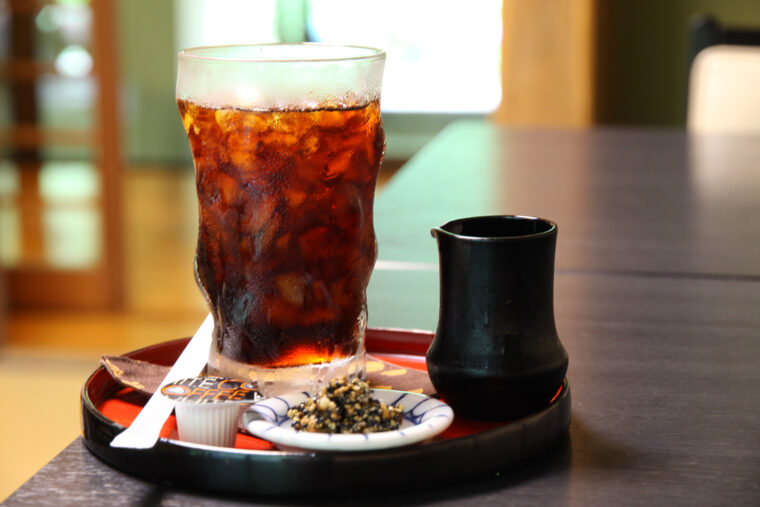 湧き水でいれる『清水コーヒー』(550円)