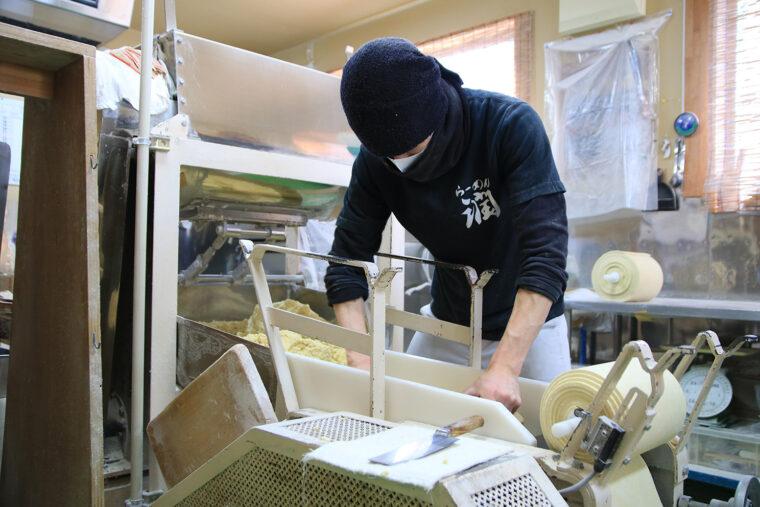 麺は店の近くにある製麺工場で製造。小麦のよさを引き出すことをモットーに作られています