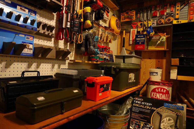 工具系雑貨のコーナー