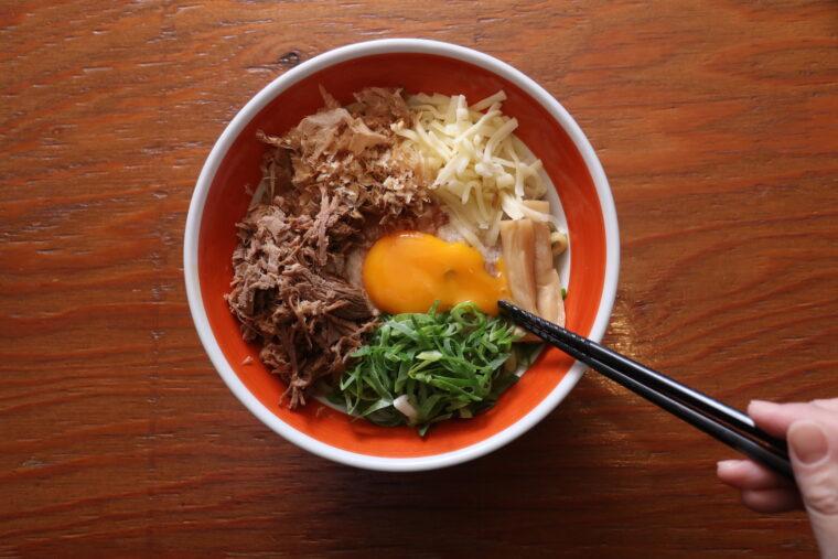 『ちゃっちゃ和え麺』(870円)。よーく混ぜて食べてね