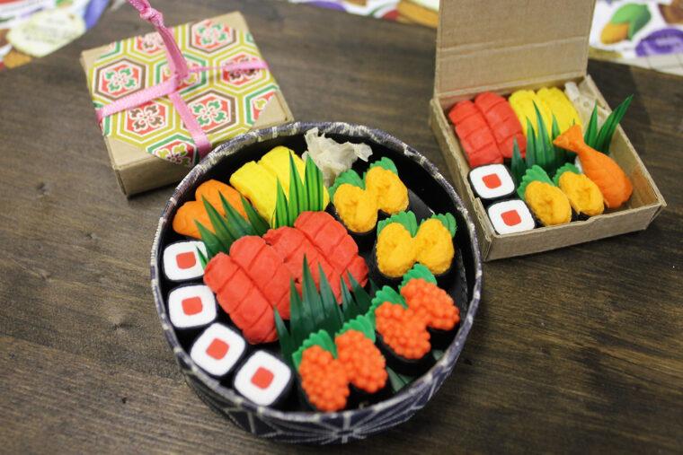 今日はお寿司よ!(これも消しゴム)