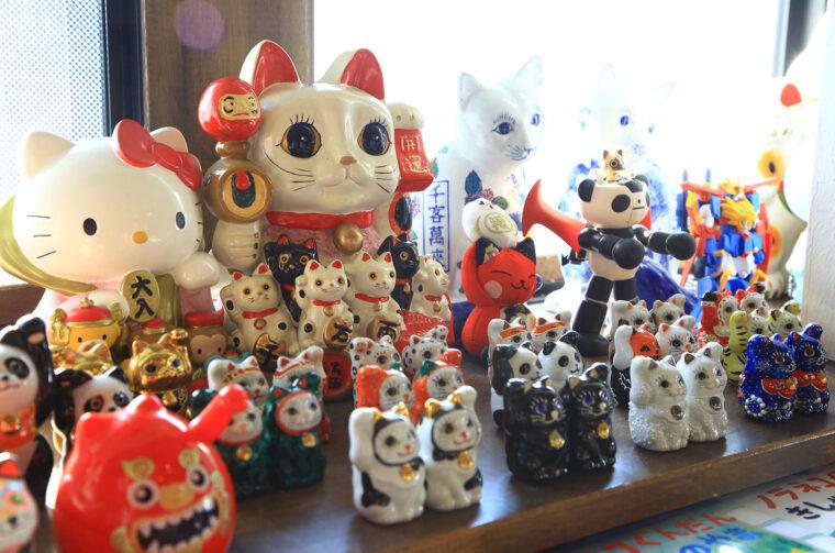 店内には猫グッズがいっぱい!