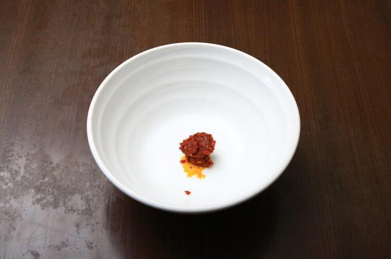 大辛に入っている激辛豆板醬の量がこちら