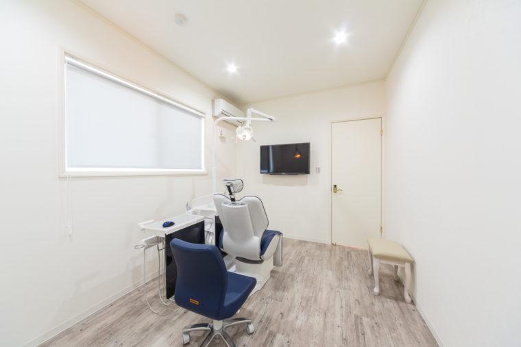 個室の治療スペースもある