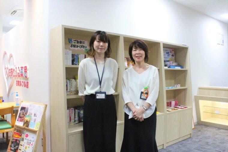 中央区社会福祉協議会の榎田さん(右)と鹿柴さん(左)