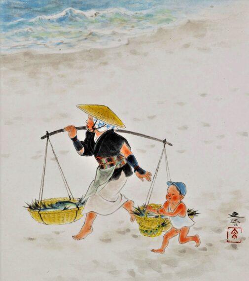 『浜の母子』三浦文治
