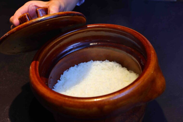 阿賀町産コシヒカリの土鍋ごはん