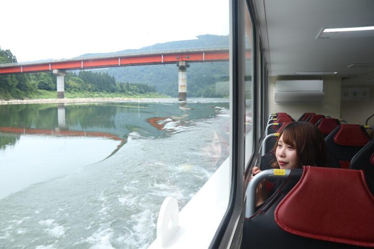阿賀野川をプチクルーズ