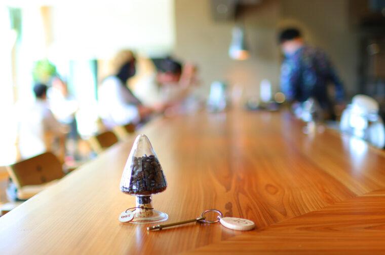 コーヒー豆のボトルキープができます