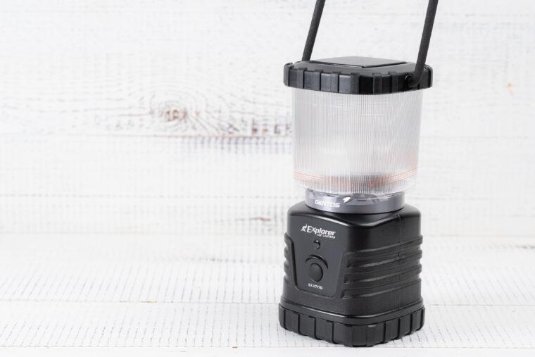 電池別売/連続点灯時間:27時間/サイズ:約102×87×184mm/重量:約802g(電池含)/IP64/明るさ:360ルーメン/付属品:ハンガーフック