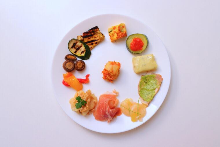 『前菜の盛り合わせ』(900円)