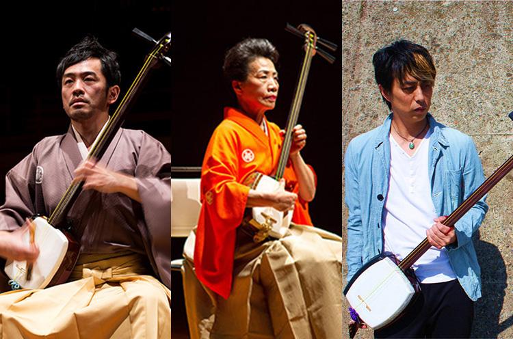 左から史佳Fumiyoshi、高橋竹育、更家健吾