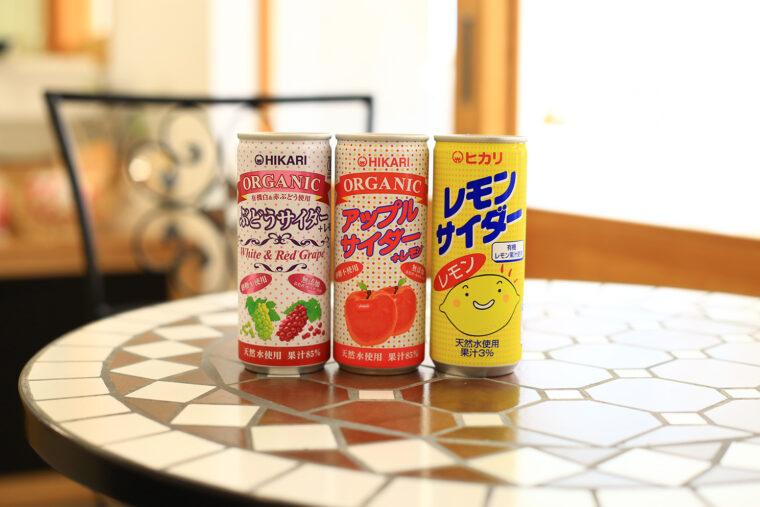 砂糖不使用の炭酸飲料各種(各151円)。スポーツドリンクやジンジャーエールもありました