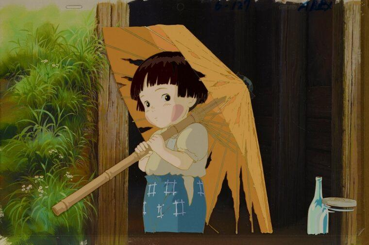 『火垂るの墓』セル付き背景画 © 野坂昭如/新潮社,1988 無断転載禁止