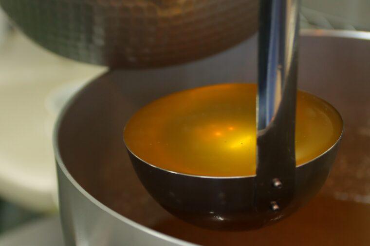 透明感のあるスープ
